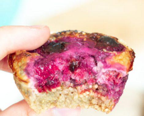 Recette healthy de Muffin au quinoa et fruits rouges pour un goûter léger